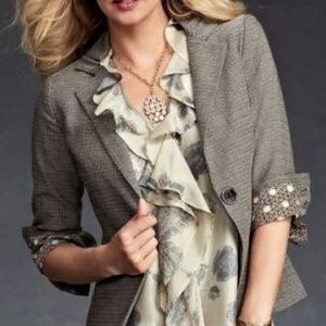 CAbi Barrister Tweed Blazer Jacket